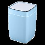 Сенсорное мусорное ведро JAH 8 л квадратное голубое