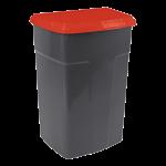 Бак мусорный 90л темно-серый красный