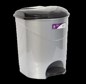 Відро для сміття з педаллю Irak Plastik Bella №1 12л сірий металік