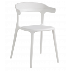 Крісло Papatya Luna-Stripe біле сидіння, верх білий