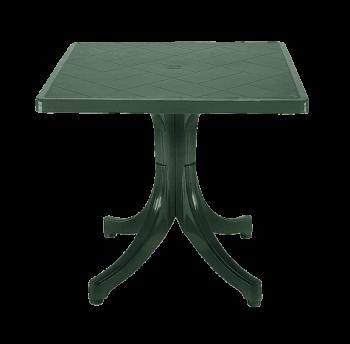 Стол квадратный Papatya Фавори 80x80 зеленый