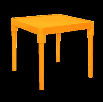 Стол детский квадратный светло-оранжевый