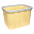 Корзина для белья под ротанг 35 л желтая