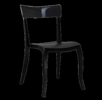 Стул Papatya Hera-S черное сиденье, верх черный