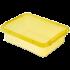 Бокс прямоугольный Orplast 8,5 л с крышкой клипсами желтый