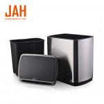 Сенсорное мусорное ведро JAH 20 л прямоугольное черный металлик с внутренним ведром