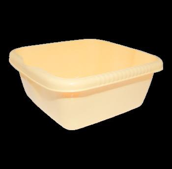 Таз квадратный глубокий 7 л желтый