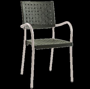 Кресло Papatya Karea темно-зеленый, база алюминий