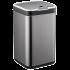 Сенсорное мусорное ведро JAH 7 л квадратное черный металлик с внутренним ведром