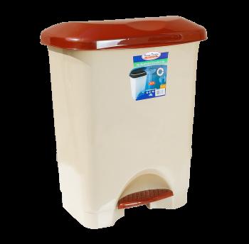 Відро для сміття з педаллю Irak Plastik Stella 45л бежеве