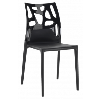 Стул Papatya Ego-Rock черное сиденье, верх черный