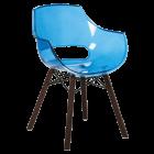 Крісло Papatya Opal Wox Iroko прозоро-синій