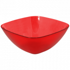 Салатница Кристалл пластиковая 1л прозрачно-красная