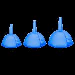 Воронка набор 3 шт синяя