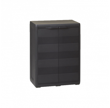 Шкаф низкий 2-х дверный Elegance S Toomax черный