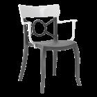 Кресло Papatya Opera-K сиденье антрацит, верх белый