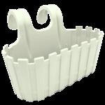 Горшок для цветов балконный подвесной Akasya 3,5 л белый