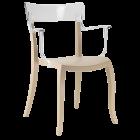 Кресло Papatya Hera-K песочно-бежевое сиденье, верх прозрачно-чистый