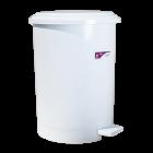 Відро для сміття з педаллю Irak Plastik №4 35л біле