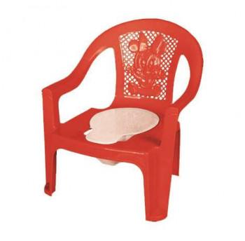 Горшок-кресло детский с перфорированной спинкой 34 грн