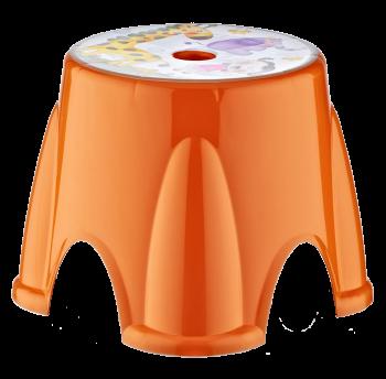 Табурет Irak Plastik Ton Ton №3  оранжевый