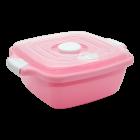 Контейнер с крышкой 1,8 л розовый