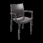 Крісло Irak Plastik Lara антрацит
