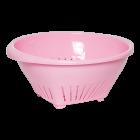 Дуршлаг овальный розовый