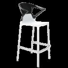 Барное кресло Papatya Ego-K белое сиденье, верх черный