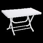 Стол складной прямоугольный с металлическими ножками белый