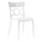 Стілець Papatya Opera-S сидіння біле, верх білий