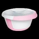 Емкость для миксера 2,5 л с крышкой розовая