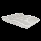 Лоток для столовых приборов белый флок
