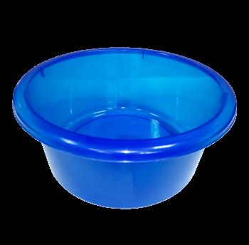 Таз круглый пищевой 4 литра прозрачно-синий
