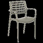 Крісло Tilia Louise XL сірий цемент
