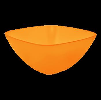 Салатница пластиковая 1л прозрачно-оранжевая
