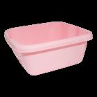Таз квадратный глубокий 7 л розовый