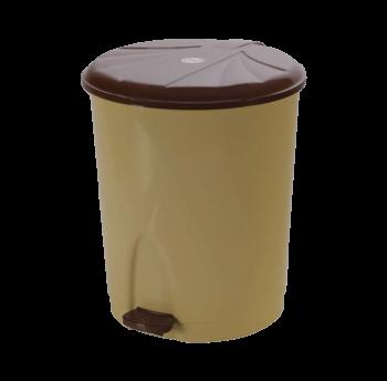 Ведро для мусора с педалью 23л №4 СК 004 коричневое