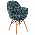 Кресло Tilia Gora-V ножки буковые, сиденье с тканью ARTCLASS 808