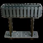 Горщик для квітів балконний з підставкою на ніжках Akasya 11 л антрацит
