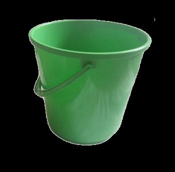 Ведро 14 л круглое зеленое