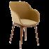 Крісло Tilia Shell-W Pad ніжки букові, сидіння з тканиною PIED DE POULE 04