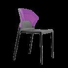 Стул Papatya Ego-S антрацит сиденье, верх прозрачно-пурпурный