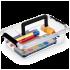 Бокс прямокутний Orplast 3,1 л з кришкою кліпсами ручкою прозорий Уцінка