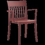 Кресло Papatya Eden-K матовое красный кирпич
