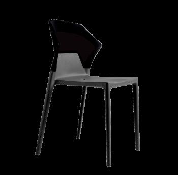 Стул Papatya Ego-S антрацит сиденье, верх черный