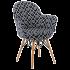 Кресло Tilia Gora-V ножки буковые, сиденье с тканью ARTCLASS 805
