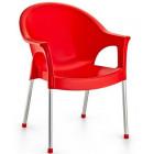 Крісло Irak Plastik Bergama червоний