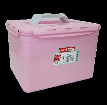 Контейнер с ручкой большой Fresh Box 11 л розовый