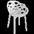 Кресло Papatya Flora матовый белый